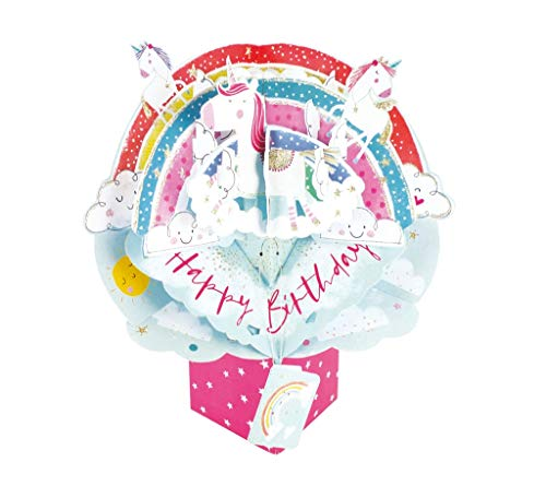 Second Nature Pop Ups Birthday Unicorns Pop Up Greeting Card - POP176 POP176A