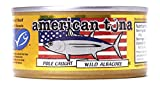 American Tuna MSC Certified Sustainable Pole & Line Caught Albacore Tuna, 6oz Can w/ Sea Salt, Caught & Canned in America (6 Pack)
