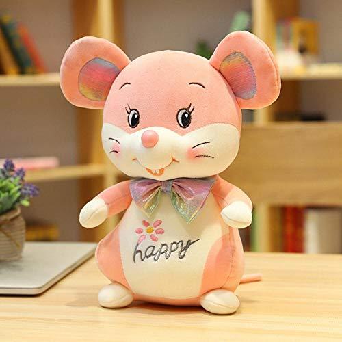 Junsansir Cute Mouse Plush Toy Stuffed Soft Animal Mouse Rat Doll Pillow Regalo de cumpleaños para niños Lovely Kids Baby Toy,Rosa,58cm