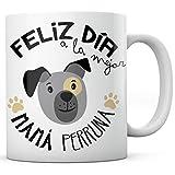 PANISCUS Taza para Regalar Mamá Perruna Regalo para Amigo Invisible Mascota Perro Gato Día de la Madre Día del Padre Cumpleaños Amor