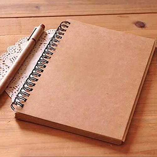 FNMYH Cuadernos Retro Simple Boil Bosquejo Cuaderno Pintura Notepad Kraft Paper Diario Cuaderno para la Oficina Escolar Inicio, etc. (Color : Brown)