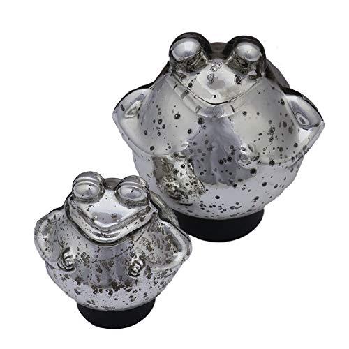 Gartenzaubereien Schwimmfroch Silber Gross und klein für Miniteiche