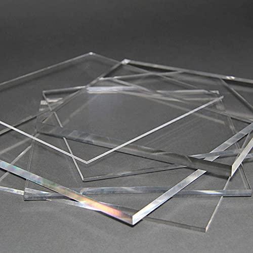 nattmann Acrylglas Zuschnitt PLEXIGLAS® Zuschnitt 10-25 mm Platte/Scheibe klar/transparent (10 mm, 300 x 300 mm)