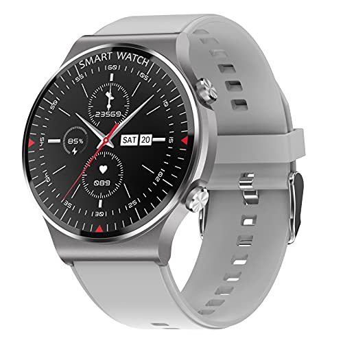 Rvlaugoaa Llamada Bluetooth Smartwatch Mensaje Recordatorio Rastreador De Ejercicios Contador De Pasos De Calorías IP67 Reloj Inteligente De Fitness Impermeable para Teléfonos iPhone/Android