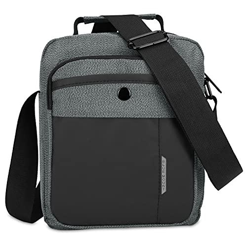 CX&LL Borsello Uomo Tracolla Sport, Borsa a Tracolla Messenger Bag Borsa a Spalla Casual Lavoro Viaggio per Per lavoro e scuola, grigio