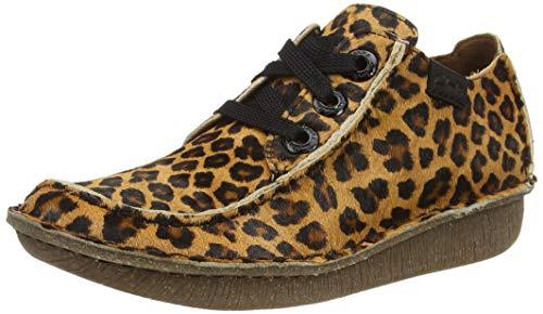 Clarks Funny Dream, Zapatillas Mujer, Estampado de Leopardo, 38 EU