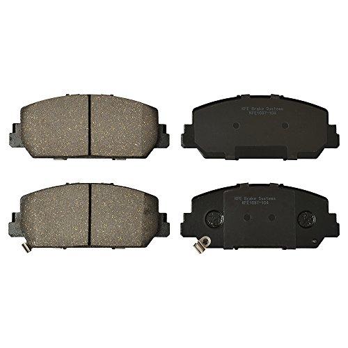 KFE KFE1697-104 Ultra Quiet Advanced Premium Ceramic Brake Pad FRONT Set Compatible With: 2016-2017 Honda Accord Sport or Touring; Acura ILX, RDX, RLX