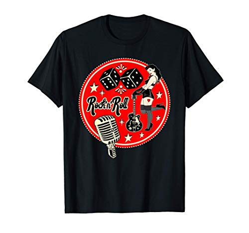 Rockabilly Hombre Ropa Rockera Mujer Pinup 50s Rock and Roll Camiseta