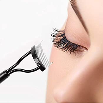 Eyelash Comb Eyebrow Brush MSQ Eyelash Separator Mascara Applicator Eyelash Definer With Comb Cover Arc Designed Cosmetic Brushes Tool Black