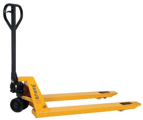 Wesco Industrial Products 272149 Economizer Pallet Truck with Handle, Polyurethane Wheels, 4400 lb. Load Capacity, 63