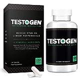 TestoGen Potenciador de Testosterona de Triple Acción con poderosos ingredientes naturales, ayuda a mejorar la resistencia, la fuerza y la energía (120 cápsulas)
