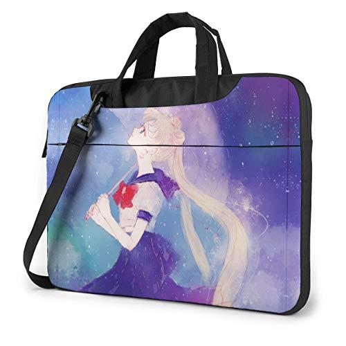 15.6 Inch Laptop Bag Watercolor Laptop Briefcase Shoulder Menger Bag Case Sleeve