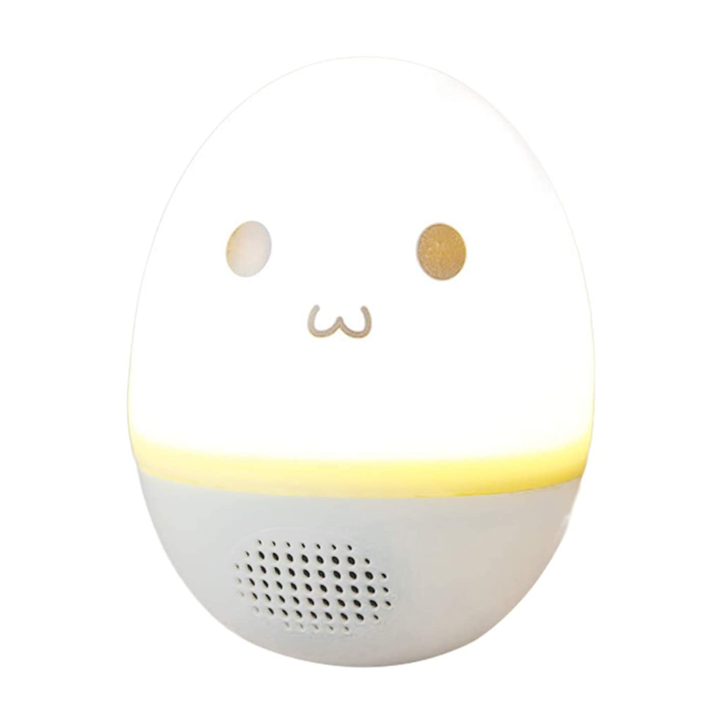 Music Bluetooth Speaker Multi-Color Wireless Portable Light LED Bedside Lamp Tumbler Touch Control (Smile Face)