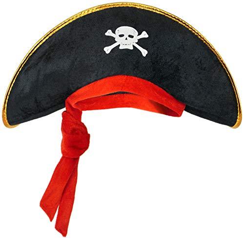 Balinco Piratenhut für Kinder - Kostüm Accessoire für Mädchen & Jungen zum Fasching / Karneval