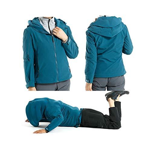 YXYECEIPENO Fallfeste Jacke Mit Airbag Aufblasbare Schutzjacke APP Echtzeitüberwachung Bequemes Kleidungsmaterial Für 4 Jahreszeiten Ohne CO2-Flasche (Color : Blue, Size : XX-Large)