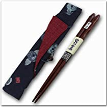 【和柄】メンズ MY箸 男の箸紫檀 天然目 otokohashi-shitanhashi