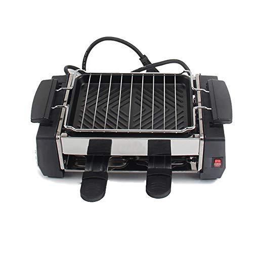 Barbacoa eléctrica familiar Raclette Grill para 2 a 4 personas sin humo...