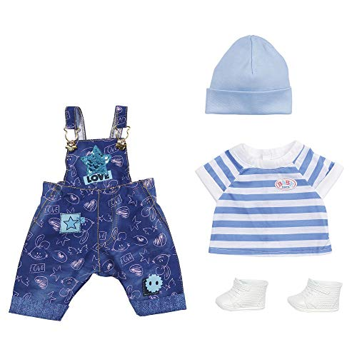 Zapf Creation 829127 BABY born Deluxe Jeans Latzhosen Set Puppenkleidung 43 cm