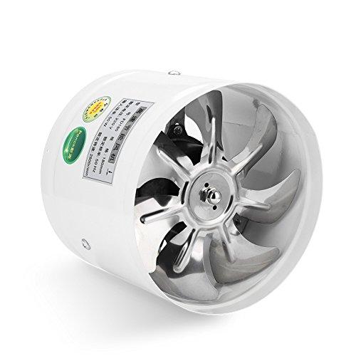 Ventilador de pared con ventilación redonda, ventilador de escape bajo nivel de ruido para baño cocina garaje ventilación 50 W 220 V