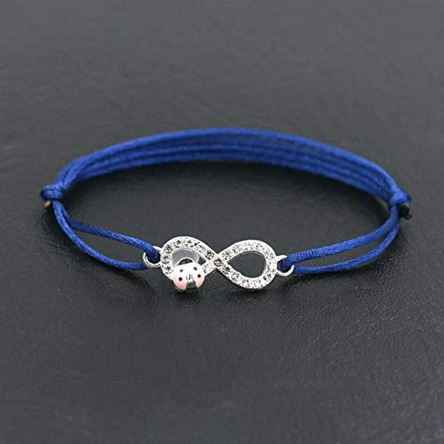 POMU Minimalisme Digitale Infinity Charm Armband Zilver Kleur Dunne Rode Touw Rijgdraad Armbanden