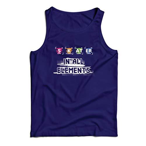 lepni.me Camisetas de Tirantes para Hombre Patinador en Todos los Elementos Química Periódica de Mesa Deporte (Small Azul Multicolor)