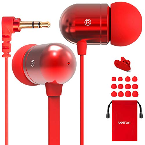 Betron B750s Earphones Headphones, High Definition, in-ear, Tangle-Free,...