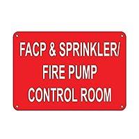 ファップ&スプリンクラー/ファイアーポンプ制御室アルミメタルサインインチ