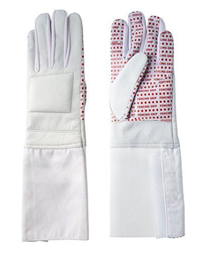 Pro-Style Dual Layer Padded Fencing Glove - Washable Fencing Glove w/ Anti-Slip Coating, Internal Seams - Right Fencing Glove Versions - Approved for FIE Competitions Medium