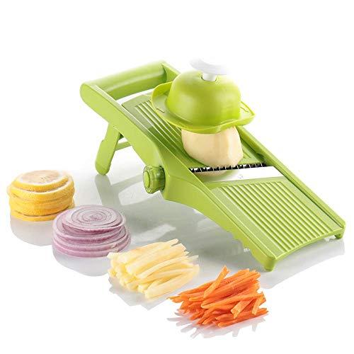 Máquina de patatas de mandolina vegetal-cortador de freír para cebolla anillos chips y papas fritas comida Chopper cebolla Chopper-cocina vegetal dicer-fruta y cortador de queso
