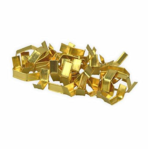Verschlussclipse 4 cm lang 1000 Stück, gold glänzend Verschluss-Clips Verschlüsse Tütenverschluss perfekt für Cellophanbeutel Zellglasbeutel Cellofanbeutel Bodenbeutel Zellofanbeutel