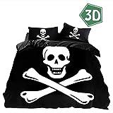 Juego De Ropa De Cama 3d Pirata Navegación, Fansu Microfibra Poliéster Funda De Edredón...