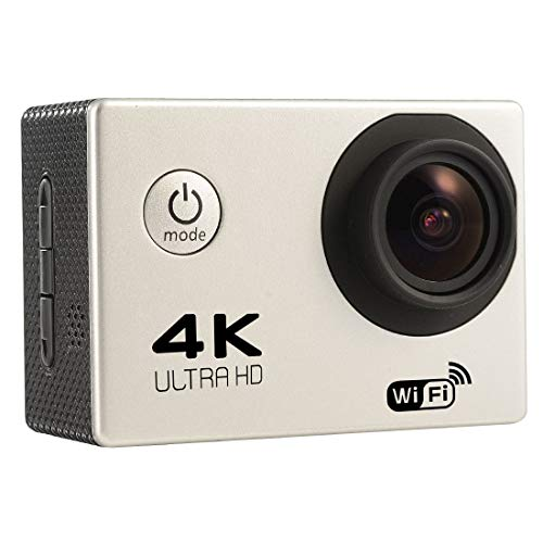 ZMKK Other Camera F60 2.0 inch Screen 4K 170 Degrees Wide Angle WiFi Sport Action Camera Camcorder with Waterproof Housing Case, Support 64GB Micro SD Card(Black) (Color : Silver)