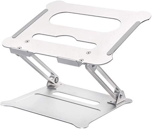 Laptop Notebook Stand, Foldable AdjustableMulti-Angel Laptop Rack Aluminum Laptop Riser Ergonomic Desktop Holder for Tablets, Ipad, Notebook, MacBook Up to 43cm (Large)