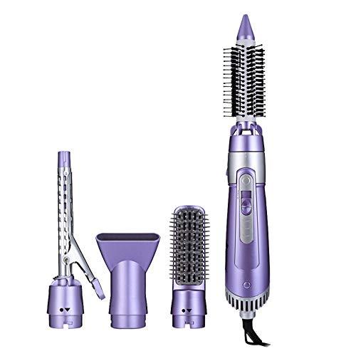 Peine de aire caliente Juego de herramientas para peinar el cabello 5-en-1 Secador eléctrico Rizador Cepillo Peine