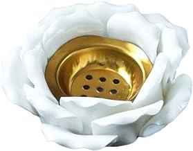 IMIKEYA Titular da Luz Do Chá de Lótus Cerâmica Castiçal de Lótus Pétalas Lâmpadas Da Vela Votiva Suporte para Home Accent...