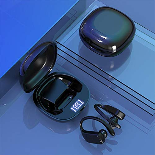 ZIMD LED-Bildschirm Drahtloser Bluetooth-Kopfhörer TWS Stereo-Ohrhörer Kopfhörer mit Geräuschunterdrückung und Mikrofon schwarz