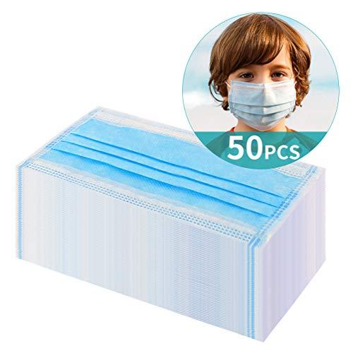 Kinder Mund Schutz Kinder Nase Abdeckung 3-lagig Anti-Staub Einweg-Atem (50 stück)