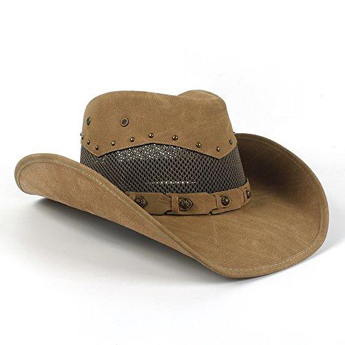 Hong Sombrero de Vaquero Occidental de Cuero de los Hombres...