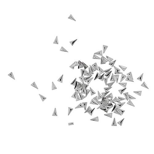 Décoration Nail Art Mode Punk Paillette Rivet Rectangle / Triangle / Cercle - Triangle 3 x 5mm, Argent