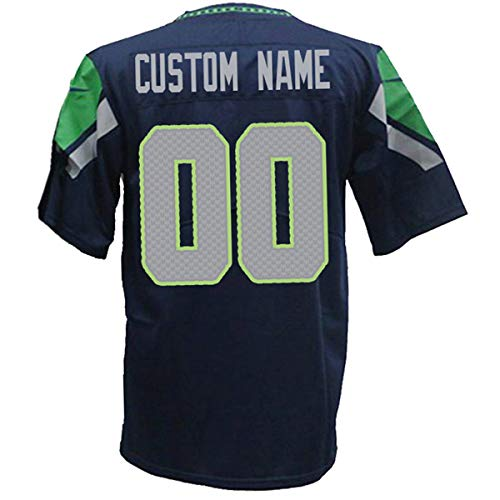 Custom Football Jerseys Fashion Style Design Personalized Team Name and Your Number for Men/Women/Youth (S.Seahawk)