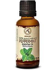 Eterisk Olja för Pepparmynta 30ml - Mentha Piperita - Doft - Eteriska Oljor - 100% Ren & Naturlig Pepparmintolja för - Aromaterapi - Kroppsvård - Diffusorer - Bastu - Avkoppling - Lugnande