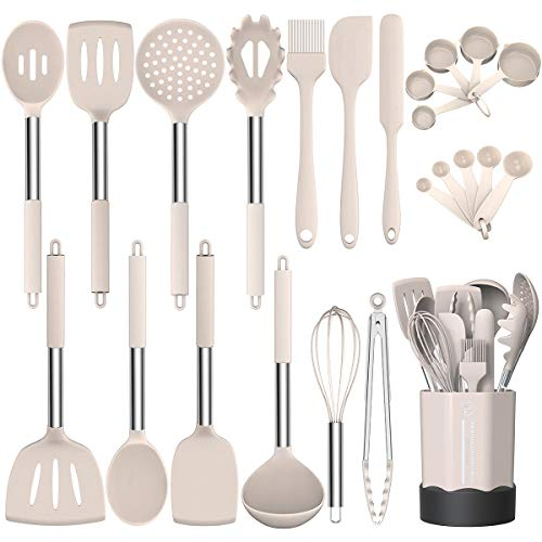 Silicone Cooking Utensil Set, Fu...