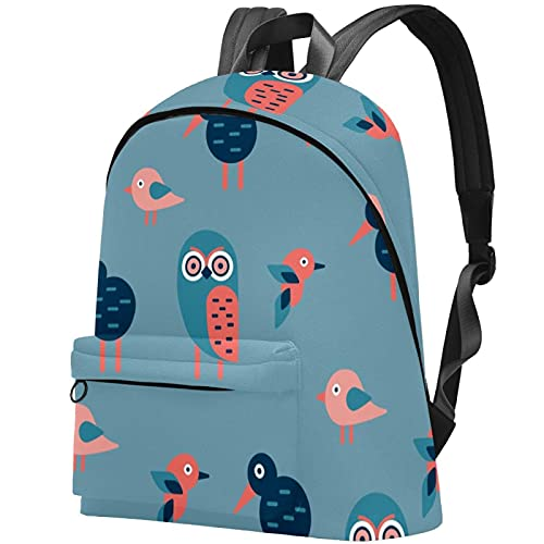 for Adults and Unisex College Schoolbag Lightweight Laptop Daypack Travel Casual Rucksack Backpack Blue Owl Animal