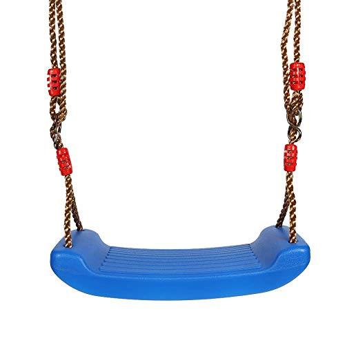 zaizai kunststof schommel kind outdoor opknoping kind stoel tuin schommel met verstelbare touwen grootte schommel stoel Blauw