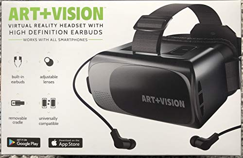 Check Out This VR Headset for iPhone and Android Virtual Reality Viewer by Art+Vision with High Defi...