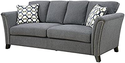 Amazon.com: Homelegance Synnove Modern Rolled Arm Reversible ...