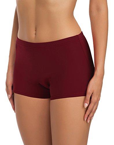 Merry Style Damen Badeshorts Bikinihose Modell L23L1 (Weinrot (4222), 44)