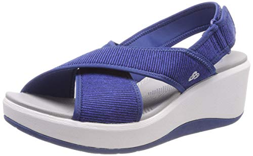 Clarks Step Cali Cove, Zapatillas Mujer, Azul (Blue-), 39.5 EU