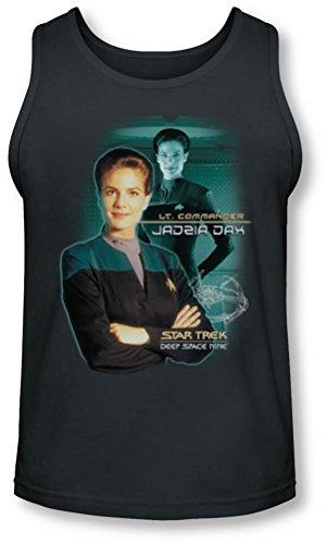 Star Trek - - Jadzia Dax Tank-Top pour hommes, Large, Charcoal