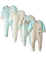 GERBER Baby Boys' 4-Pack Sleep 'N Play, Fox, 0-3 Months